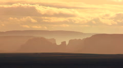 Monument Valley at Early Morning Stock Footage