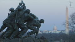 Iwo Jima Memorial in Arlington, VA Stock Footage