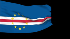 Stock Video Footage of Flag of Cape Verde