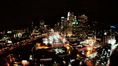 Elevated Time-lapse View of Los Angeles at Night Stock Footage