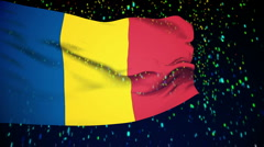 Stock Video Footage of Flag of Chad