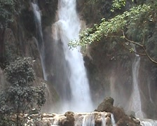 Tat Kuang Si waterfall Stock Footage