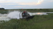 Stock Video Footage of Airboat Land