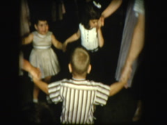 Jewish people dance the Hora Stock Footage