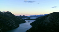 River of Crnojevic and Skadar Lake in Montenegro Stock Footage