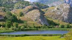 Poscensko Lake in the national park Durmitor, Montenegro Stock Footage