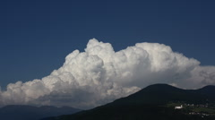 cumulus convection over mountains - stock footage