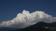 Cumulus convection over mountains Stock Footage