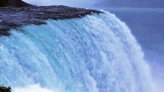 Niagara falls. Waterfall - stock footage