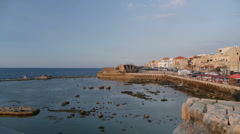 Acre old harbor P1 Stock Footage