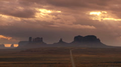 Cloudscape over Monument Valley Stock Footage