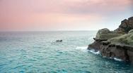Ocean tide on the rocks Stock Footage