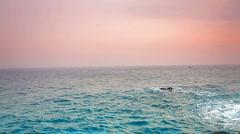 Ocean tide at dawn Stock Footage
