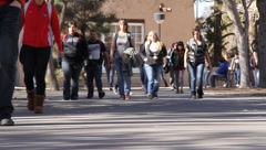 UNM Students - stock footage