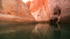 Environmental Changes on Lake Powell Stock Footage