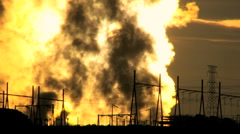 Energy Production Plant Steam Stock Footage