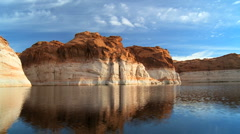 Dropping Water Levels of Lake Powell - stock footage