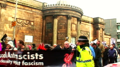 Policing demonstration 7 Stock Footage