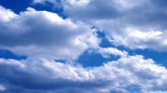 Clouds fluffy Stock Footage