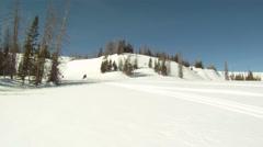 Snowmobile steep mountain HD GP 8 Stock Footage