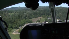 Helicopter Flies Forward - Passenger POV Stock Footage