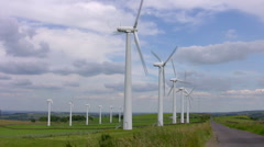 Windfarm at Royd Moor, South Yorkshire - stock footage