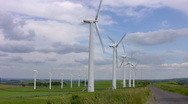 Stock Video Footage of Windfarm at Royd Moor, South Yorkshire