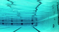 Net Pool Cleaner (Underwater) - stock footage