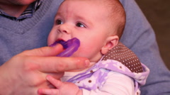 Teething Baby 2010 Stock Footage