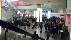 2010 Chinese Spring festival travel peak Stock Footage
