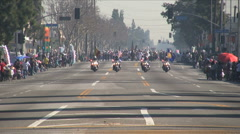 Police open - Martin Luther King Parade - Los Angeles 2011 Stock Footage