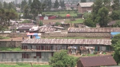 Addis Ababa Ethiopia Run-Down Warehouses - stock footage