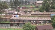 Addis Ababa Ethiopia Run-Down Warehouses Stock Footage