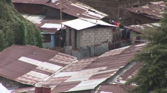 Rusted rooftops of Addis Ababa - stock footage