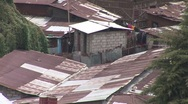 Rusted rooftops of Addis Ababa Stock Footage