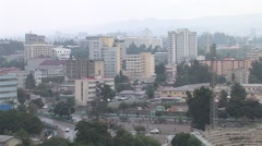 Downtown Addis Ababa Ethiopia Still Wide Shot Stock Footage