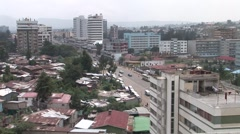Stock Video Footage of Wide city pan of Addis Ababa