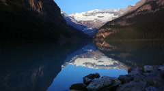 Stock Video Footage of Canoes on Lake Louise