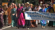 Krishna Society - Martin Luther King Parade - Los Angeles 2011 Stock Footage