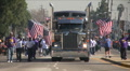 Big Rig truck - Martin Luther King Parade - Los Angeles 2011 HD Footage