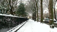 Liverpool UK urban street scene in mid winter Stock Footage