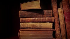 Old books Stock Footage
