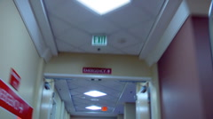 Hospital hallway urgent speed Stock Footage
