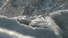 River water and ice in winter Stock Footage