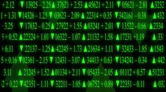 stock market board arrows - stock footage