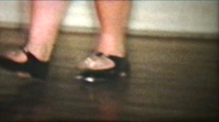 Tap Dancer In 1958 (Vintage 8mm film footage) Stock Footage
