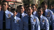 Stock Video Footage of Cadets - Martin Luther King Parade - Los Angeles 2011