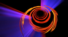 orange spiral seamless looping bg d4350H LN - stock footage