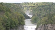 Picturesque Waterfalls in Letchworth Park Stock Footage