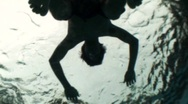 Body Floating Silhouete (Underwater) Stock Footage